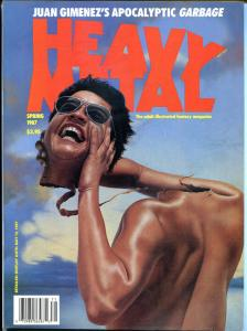 HEAVY METAL Spring Summer Fall Winter 1987, Moebius, Prado, Olivia, all 4 issues