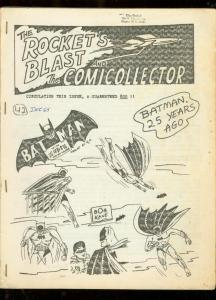 ROCKET'S BLAST AND COMICOLLECTOR FANZINE #42-1965-RARE VG