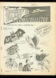 ROCKET'S BLAST AND COMICOLLECTOR FANZINE #42-1965-RARE VG