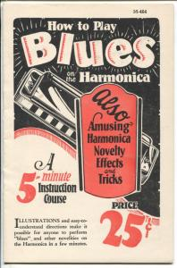 How To Play Blues On The Harmonica #M464 1928-tricks-shortcuts-VF