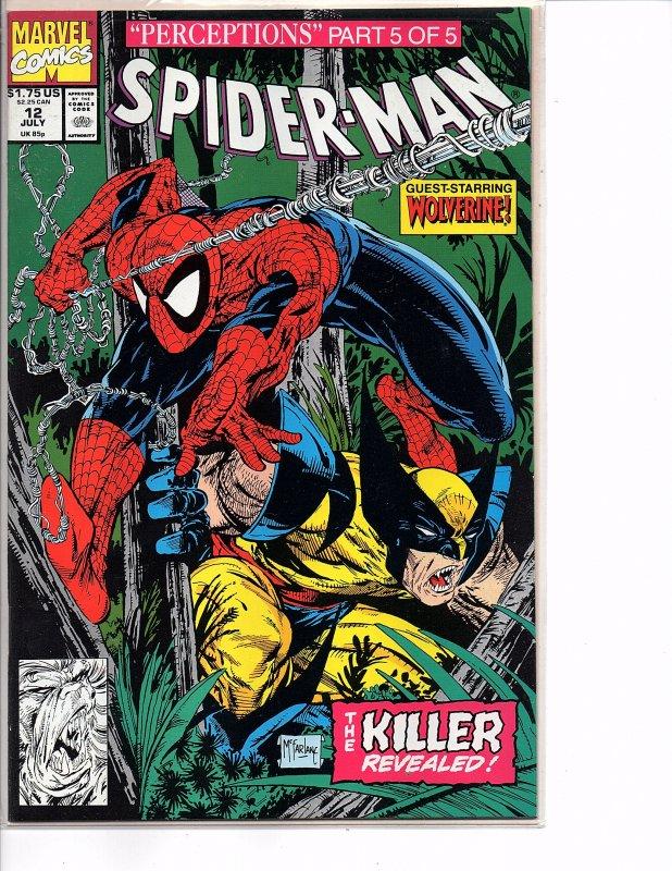Marvel Comics Spider-Man #12 Todd McFarlane Story & Art Wendigo Wolverine Part 5