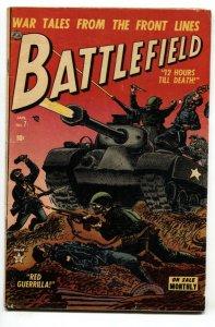 Battlefield #7 1953-Atlas-Tank-Pre-code violent war comic book