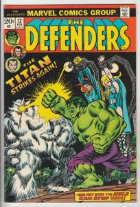Defenders, The #12 (Feb-74) VF High-Grade Hulk, Dr. Strange, Namor, Valkyrie