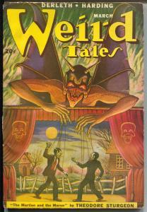 Weird Tales 3/1949-Matt Fox horror cover-Theodore Sturgeon-Robert Bloch-VG-