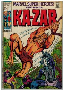 MARVEL SUPER HEROES 19 VG Mar. 1969 Kazar