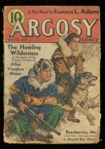 ARGOSY OCT 17 1936-L RON HUBBARD-ROBERT E HOWARD-PULP-fair/good FR/G