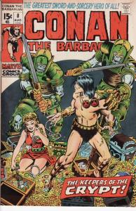 CONAN THE BARBARIAN #8 BARRY SMITH ROBERT E HOWARD 1971 VG
