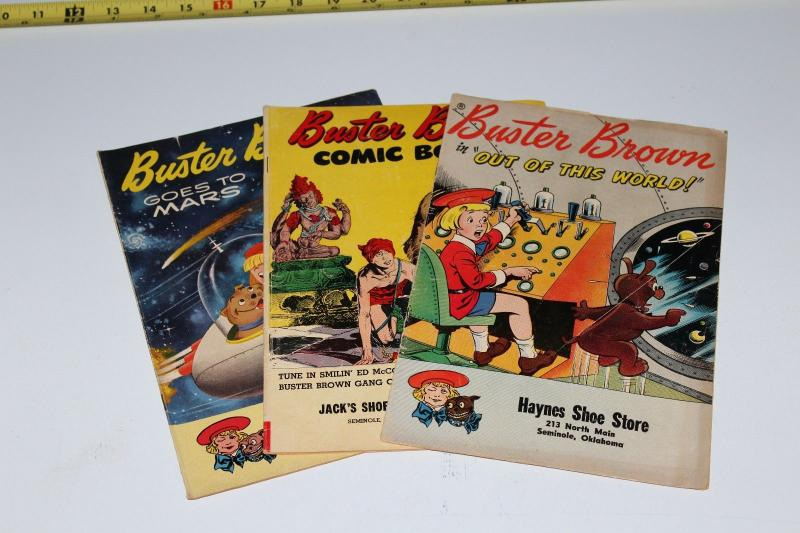 Lot of 3 BUSTER BROWN, Brown Shoe store Comics 1950's ~ (HX455)