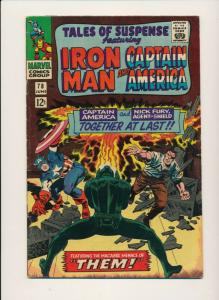 MARVEL TALES OF SUSPENSE ft. IRON MAN & CAPTAIN AMERICA #81 VG/F  (PF704)