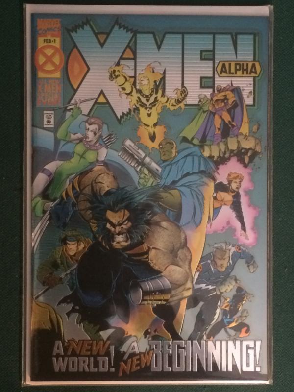 X-Men Alpha #1 Metallic/Reflective cover Age of Apocalypse AOA
