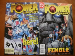 2 DC Comic: THE POWER COMPANY #1 #18 (2002 2003) Witchfire Manhunter Skyrocket