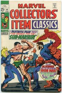 Marvel Collectors' Item Classics #19 1969 -FANTASTIC FOUR FN/VF