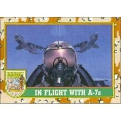 1991 Topps Desert Storm IN FLIGHT WITH A-7s #80
