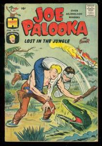JOE PALOOKA #115 1960-HARVEY COMICS-GATOR COVER-JUNGLE VG