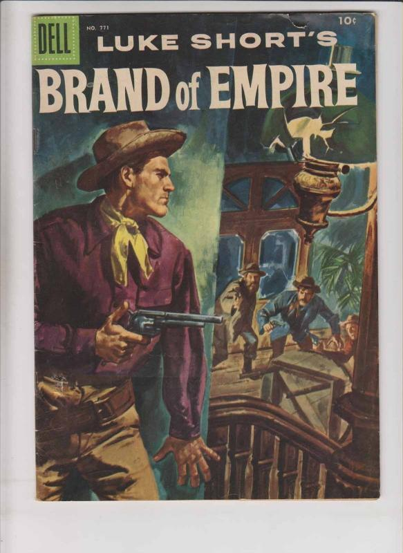 Four Color Comics #771 VG luke short's brand of empire - silver age western 1956