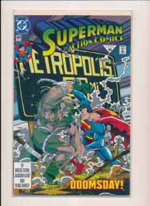 DC Comics SUPERMAN in Action Comics #684 DOOMSDAY! NM 1992 (HX847)