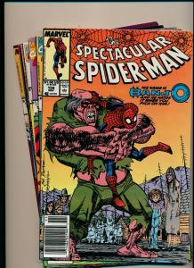 Marvel LOT of 6-SPECTACULAR SPIDER-MAN #156,167,172,180,186,& 228 F/VF (PJ121)