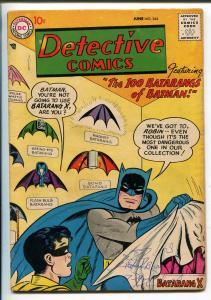 DETECTIVE #244 1957-DC COMICS-BATMAN-ROBIN-100 BATARANGS-JOHN JONES-vg minus
