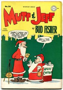 Mutt and Jeff #20 1945- Christmas cover- DC Golden Age- Bud Fisher F/VF