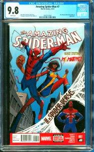 Amazing Spider-Man #7 CGC Graded 9.8 Ms. Marvel, Silk & Doctor Minerva