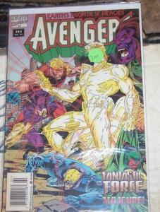Avengers # 383 1995, Marvel FANTASTIC FORCE +FRANKLIN RICHARDS GIANT MAN