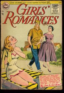 GIRLS' ROMANCES #34-SWIMSUIT CVR-DC ROMANCE VG