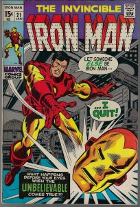 Iron Man #21 (Marvel, 1970) F/VF