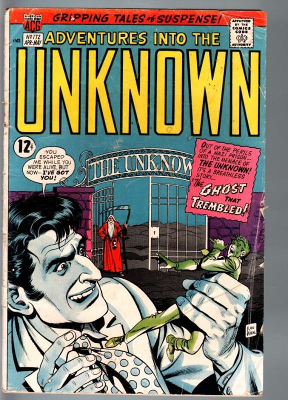 ADVENTURES INTO THE UNKNOWN #172-HORROR/SCI-FI-SILVER AGE-VG- VG-