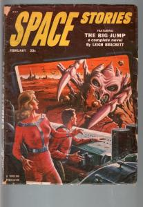 SPACE STORIES 1953 FEB-#3-SPACE GIRL COVER-HENRY HASSE VG