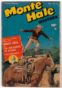 Monte Hale Western #72 (May-52) VG Affordable-Grade Monte Hale, Gabby Hayes