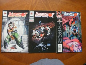 3 Near-Mint Valiant BLOODSHOT #8 Bad Blood + #10 The Rat (1993) + #33 (1995)