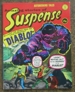 AMAZING STORIES OF SUSPENSE #206 (Alan Class) VERY GOOD PLUS (VG+) Gold/SilverRe
