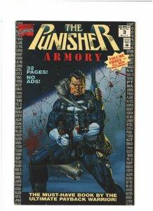 Punisher Armory #3 FN/VF 7.0 Newsstand Marvel Comics 1992 Joe Jusko