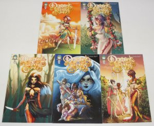 Damsels in Excess #1-5 VF/NM complete series - five princesses, zero men! set A