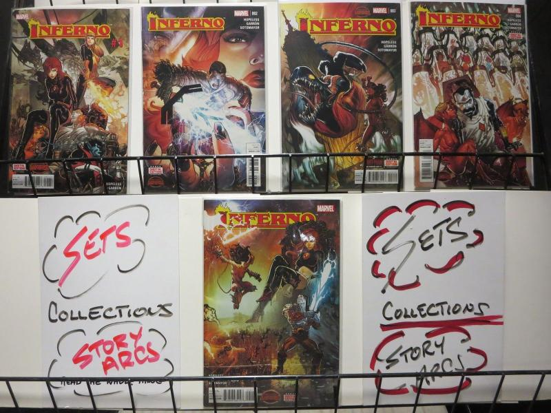 INFERNO (2015) 1A-3A,4-5  X-MEN!  COMPLETE!