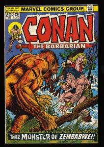 Conan The Barbarian #28 NM- 9.2 Off White to White Marvel Comics
