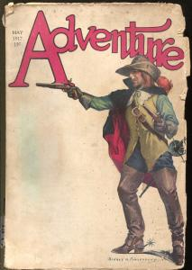 Adventure 5/1917-Sidney Riesenberg-rare early issue-100 years old-G