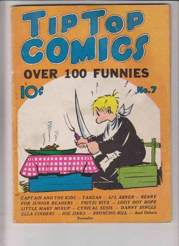 Tip Top Comics #7 VG november 1936 - tarzan - al capp's li'l abner - fritzi ritz