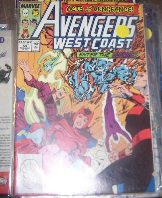 west coast avengers  # 53 DEC 1989  ACTS OF VENGEANCE U FOES PYM SCARLET WITCH