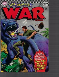 Star Spangled War Stories #133 (DC, 1967) VF- Classic Monster Cover