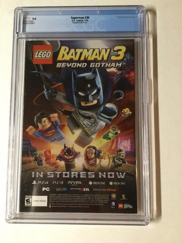 Superman 36 Cgc 9.8 White Pages Manapul Variant Cover Dc New 52