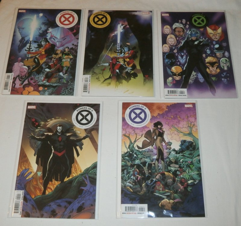 Powers of X (2019) #1,3-6 (set of 5) Hickman/Silva, 1st prints