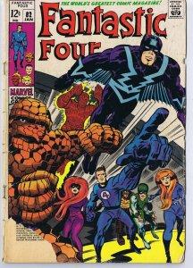 Fantastic Four #82 ORIGINAL Vintage 1969 Marvel Comics Black Bolt Inhumans
