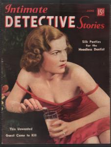 Intimate Detective Stories #4 6/1940-poison-violent-pulp thrills-lurid-VF-