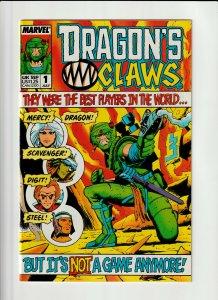 Dragon's Claws #1 Marvel UK 1988 VF/NM 9.0 Geoff Senior cover.