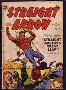 STRAIGHT ARROW #5 MEAGHER POWELL ART 1950 RADIO SERIES G