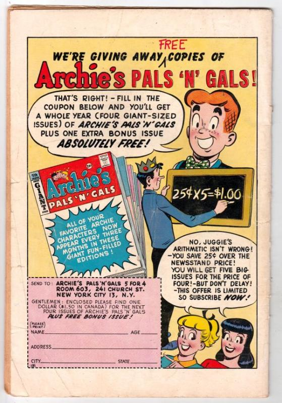 Archie's Mad House #2 (Oct-59) VG+ Affordable-Grade Archie, Betty, Veronica, ...