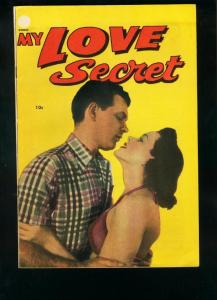MY LOVE SECRET #53-PHOTO COVER-PRE CODE-GIRL FIGHT ART! FN