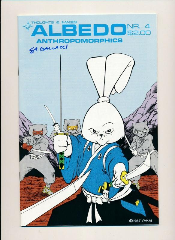 ALBEDO #4  Anthropomorphics Signed Cover Thoughts & Images ~ VF/NM 1985 (PF546)