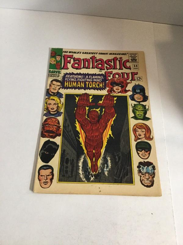 Fantastic Four 54 Vg/Fn Very Good/Fine 5.0 Marvel Comics Silver Age